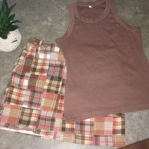 Ann Taylor Loft skirt and top